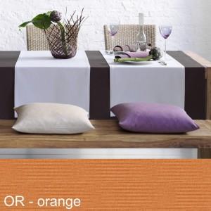 Tischdecke Pichler Como oval orange
