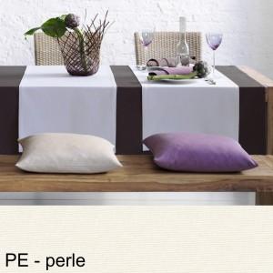 Tischdecke Pichler Como oval perle