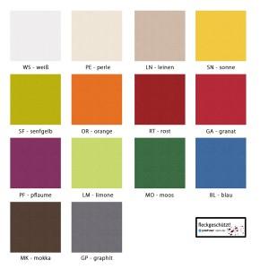 Farbpalette Maßanfertigung Pichler Viva oval