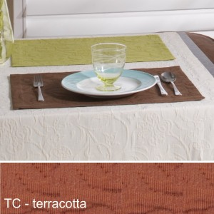 Tischset Pichler Cordoba terracotta
