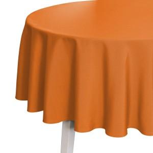 Tischdecke Pichler Como rund orange