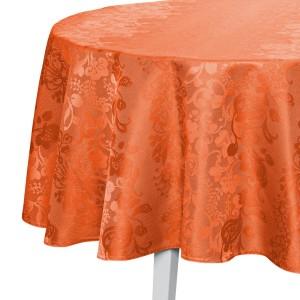Tischdecke Pichler Ipanema rund orange