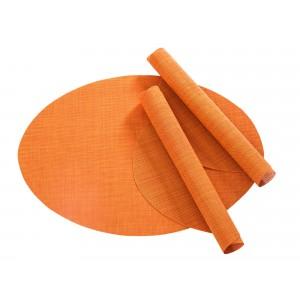 Tischset Pichler Blues oval orange