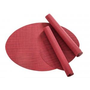 Tischset Pichler Blues oval rot