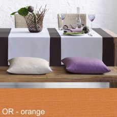 Tischdecke Pichler Como oval orange